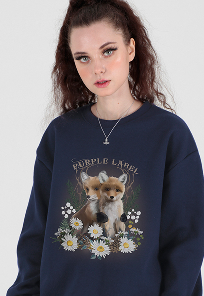 [퍼플라벨] little foxes sweatshirts (PT0067)