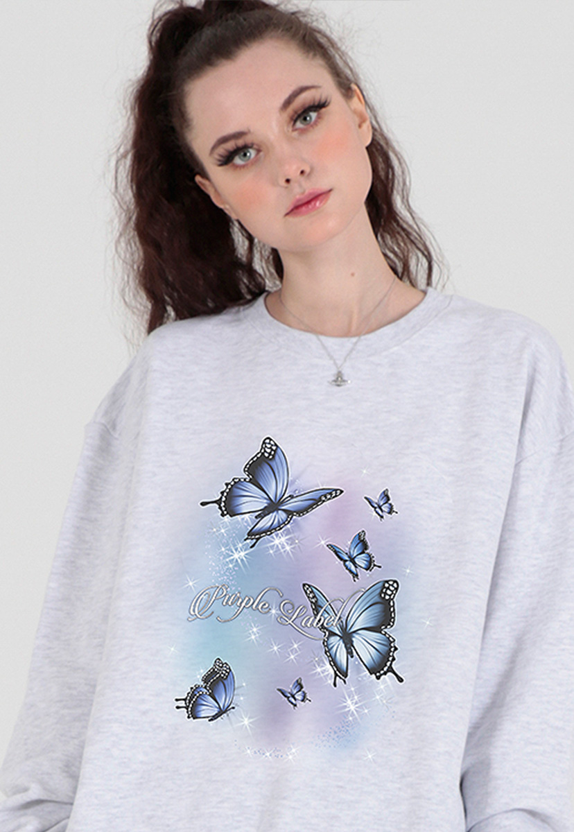 [퍼플라벨] aurora butterfly sweat shirts (PT0066-2)