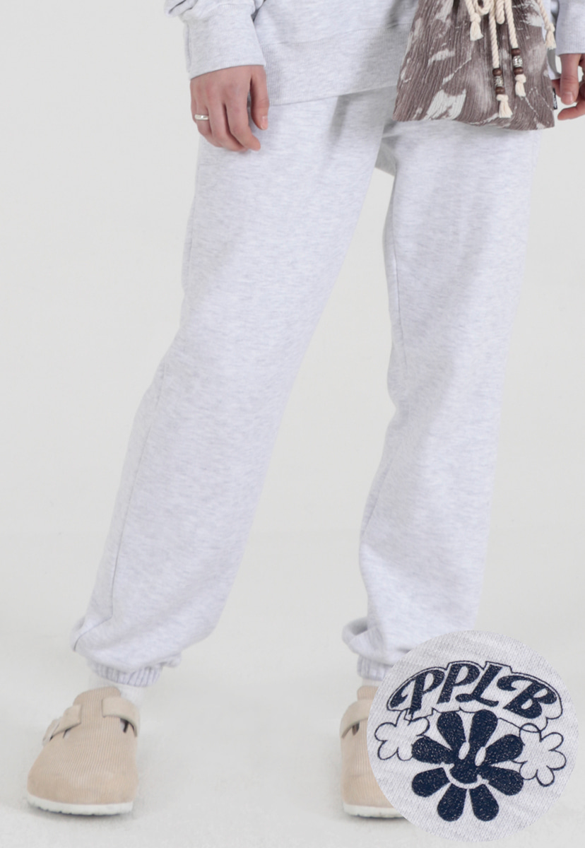 [퍼플라벨] smile flower sweat jogger pants (PP0016-1)