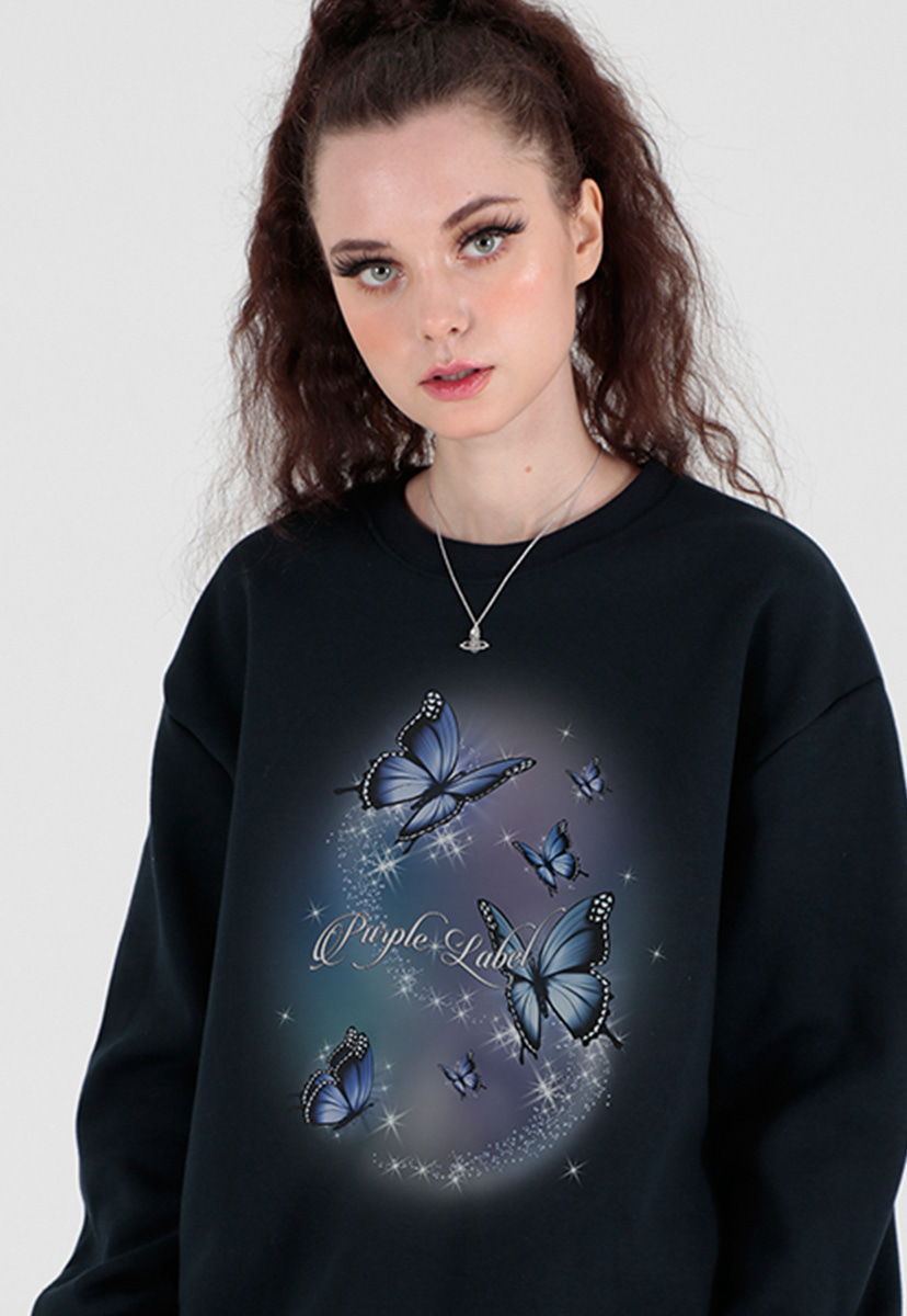 [퍼플라벨] aurora butterfly sweat shirts (PT0066)