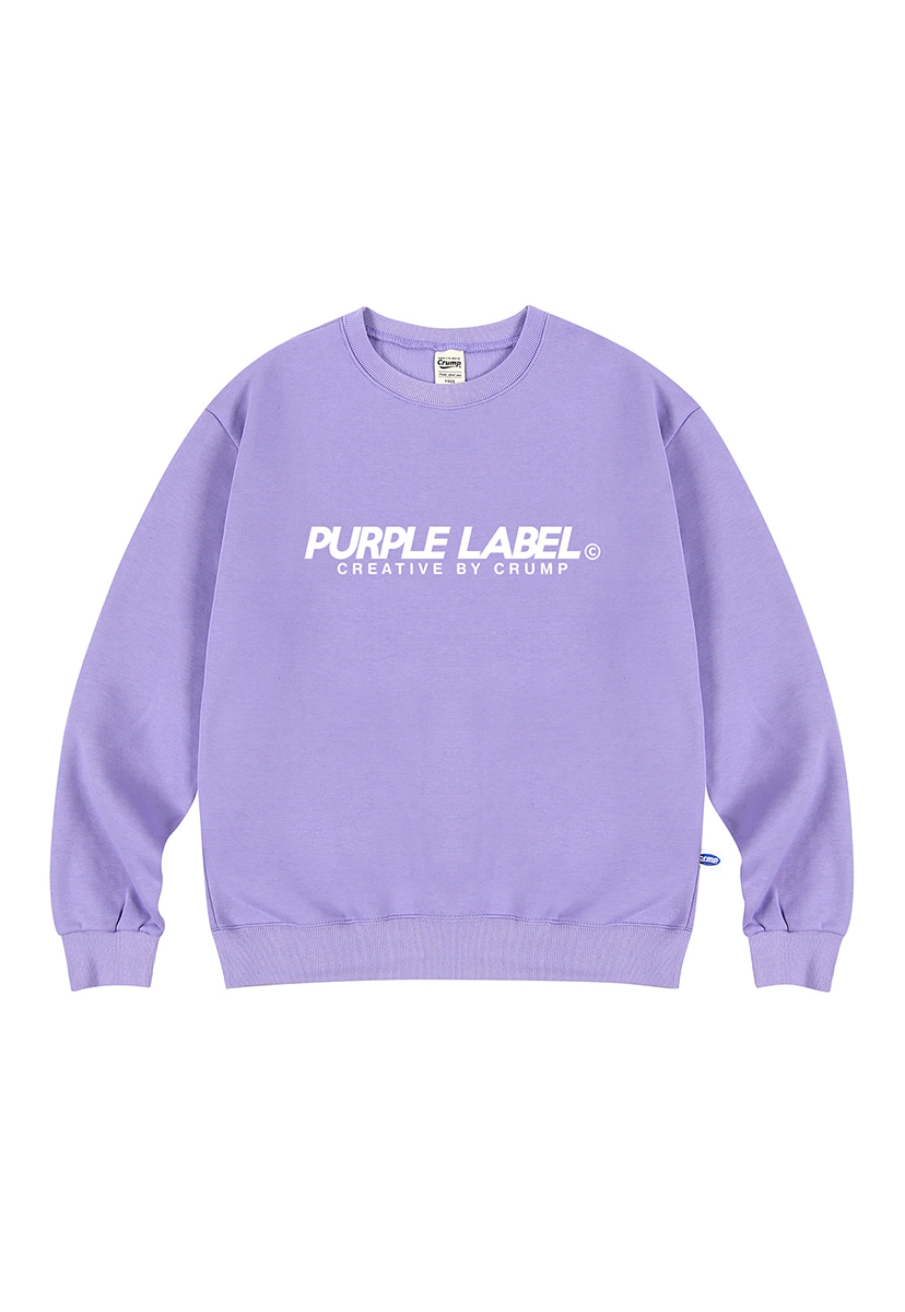 [퍼플라벨] Purple label Basic Logo crewneck (PT0023-1)