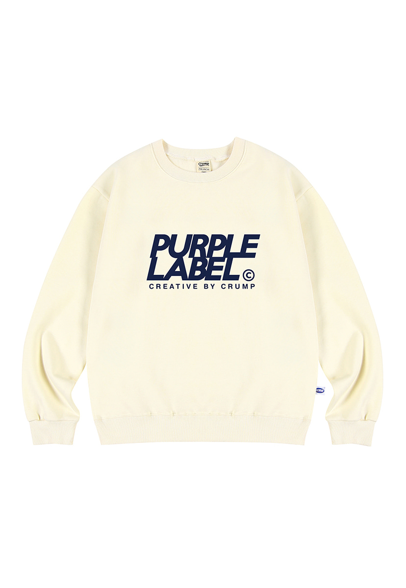 [퍼플라벨] Purple label Signature Logo crewneck (PT0022-2)
