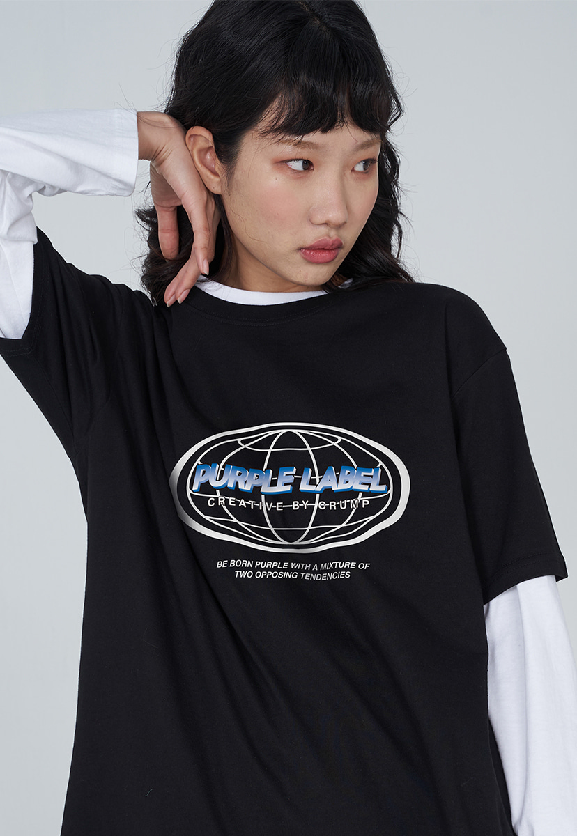 [퍼플라벨] PURPLE LABEL EARTH LOGO TEE (PT0030)