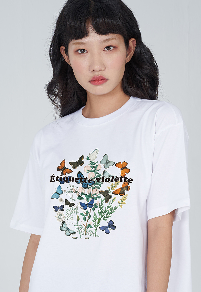 [퍼플라벨] PURPLE LABEL VINTAGE FLOWER TEE (PT0036-3)