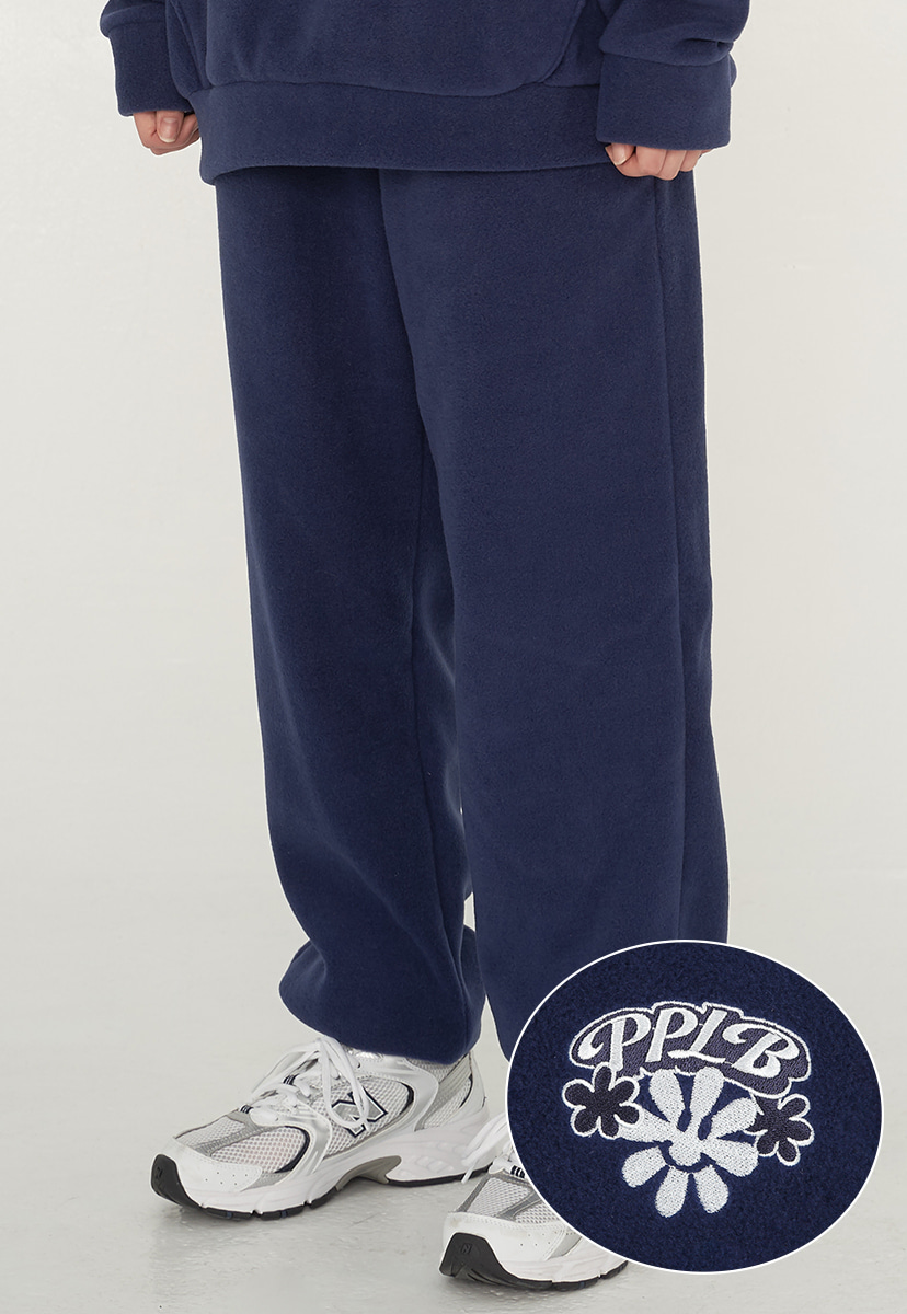 [퍼플라벨] smile flower fleece jogger pants (PP0014-1)